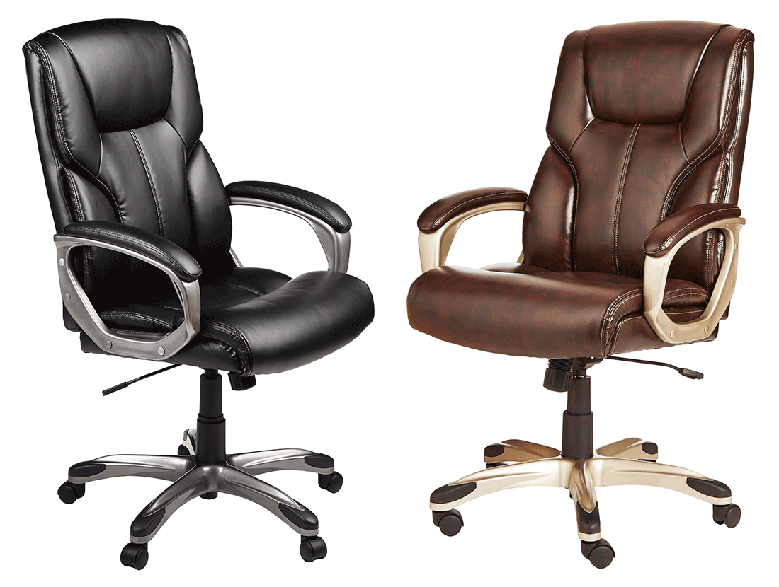 AmazonBasics Leather Executive is available in two different colors