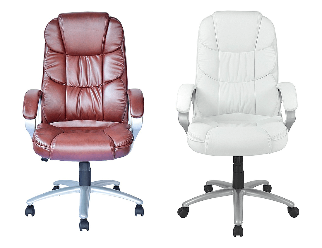 BestOffice Chair - Two colors, brown and white leather