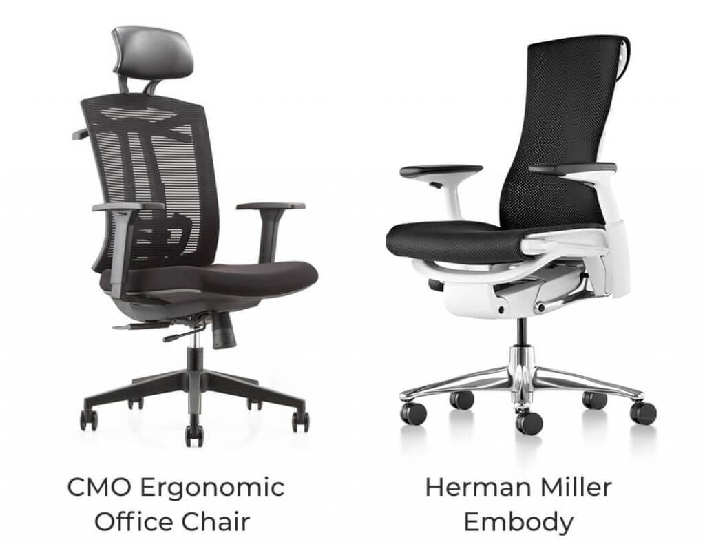 CMO Ergonomic Office Chair vs Herman Miller Embody
