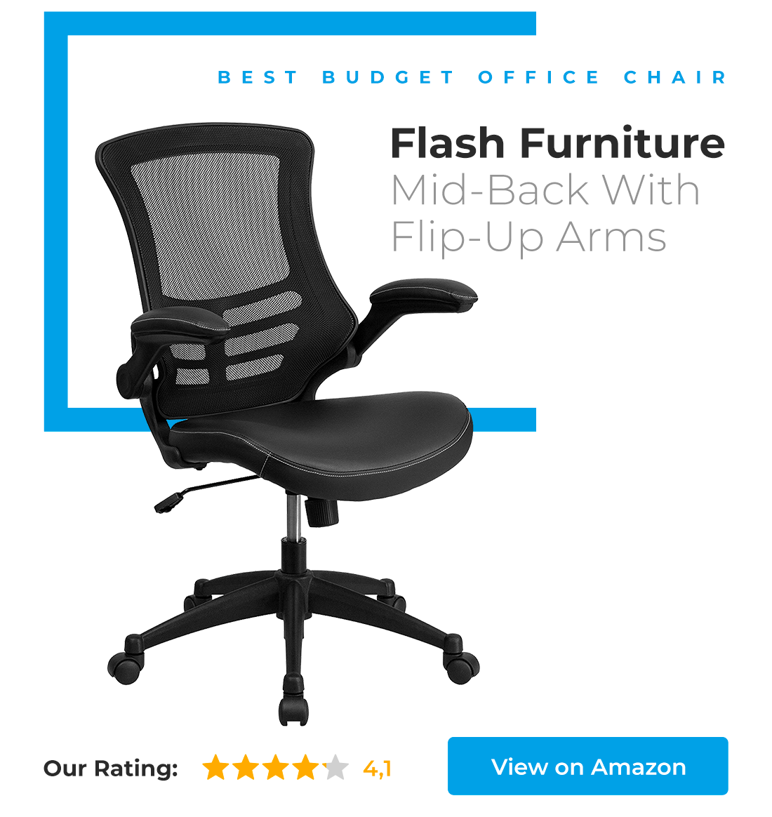 Flash Furniture Mid-Back with Flip-Up Arms