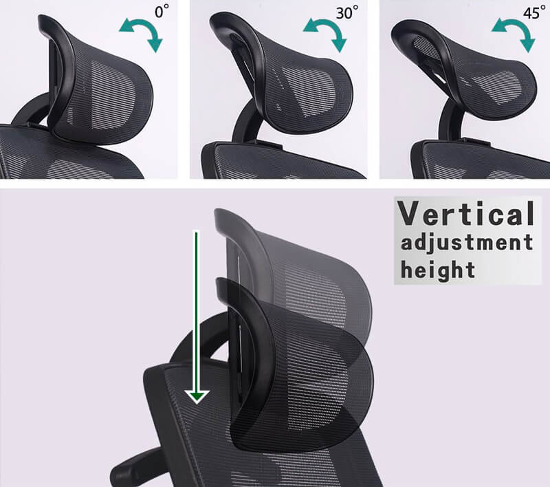 Head support is also very important feature of good ergonomic chair