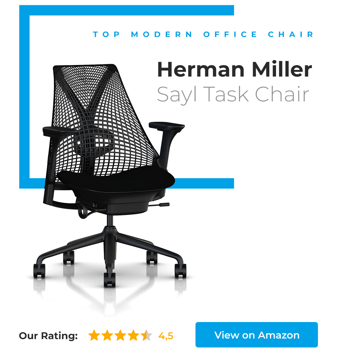 Top Modern Office Chair - Herman Miller Sayl Task Chair.