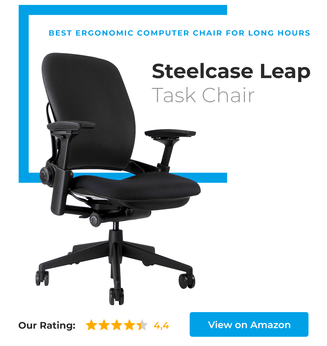 Steelcase Leap is best ergonomic computer chair for long hours