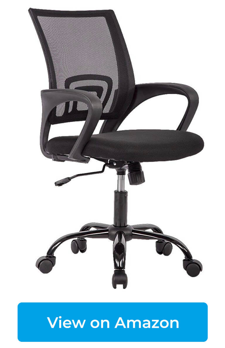 Ergonomic Mesh Computer Office Desk Mid-Back Task Chair Ergonomic Secretarial Chair