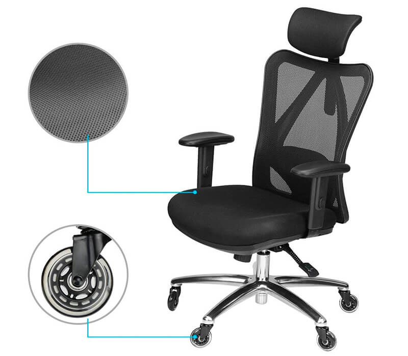 computer chair with rollerblade wheels