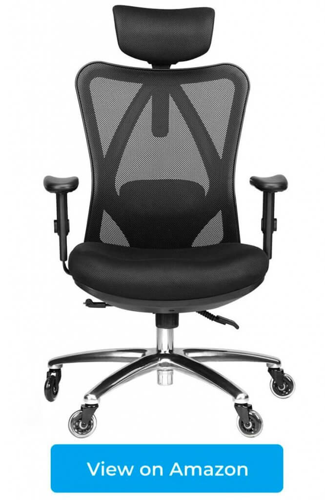 Duramont Ergonomic Office Chair with Adjustable Lumbar Support and Rollerblade Wheels