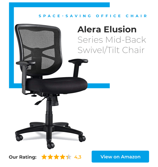 Alera Elusion Series Mid-Back Swivel Tilt Chair