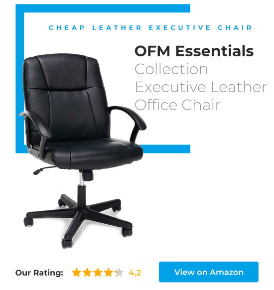 OFM Essentials Collection Executive Leather Chair