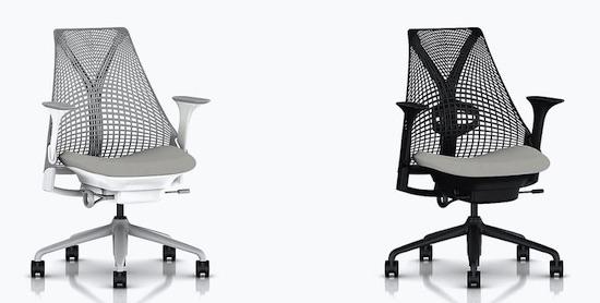 Herman Miller Sayl with non-adjustable backrest vs adjustable lumbar support
