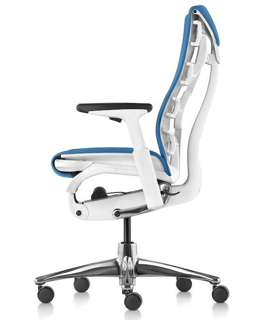 The basic version of Herman Miller Embody allows you to adjust the seat depth, backrest curviness, recline, and armrest height and width