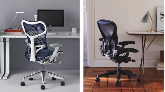 Similarities between Herman Miller Mirra 2 and Aeron chairs