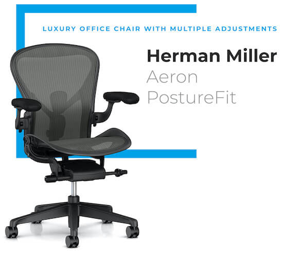 Herman Miller Aeron PostureFit - chairs for scoliosis