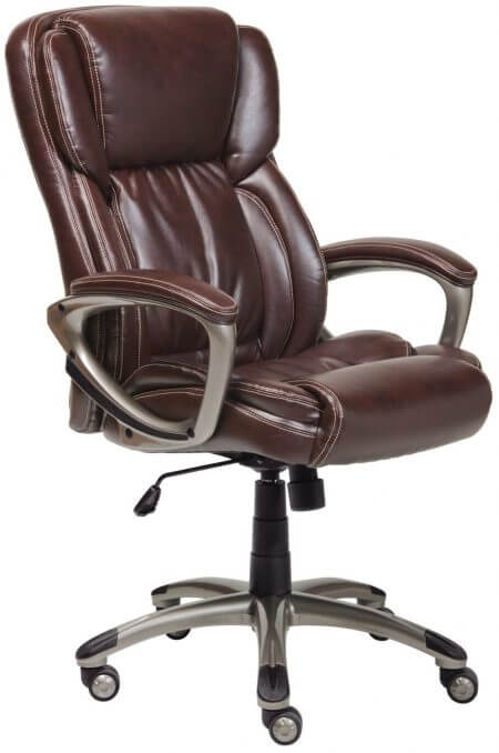 Serta Bonded Leather Brown Executive Chair